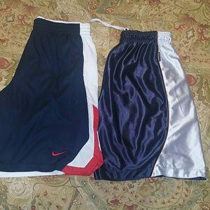2 pc set NIKE & REEBOK men's basketball shorts